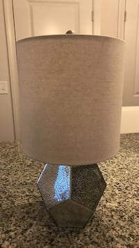 Gold and silver tones table lamp