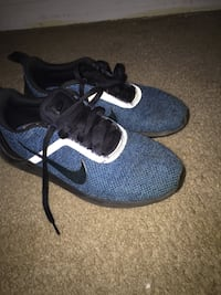 pair of blue-and-white Nike running shoes Charlotte, 28215