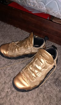 Air More Money Gold Nike Shoe