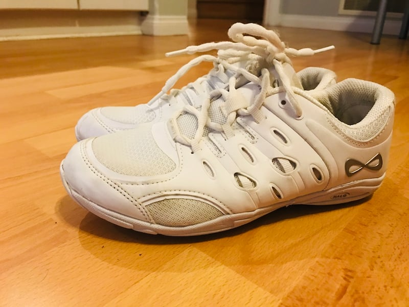 White Cheerleader Shoes, size 8 1