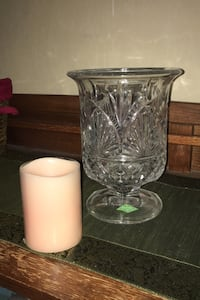 Crystal glass candle holder flower vase Shannon table centerpiece