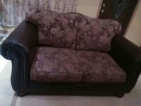 black and purple floral leather 2-seat sofa Wallsburg, 84082