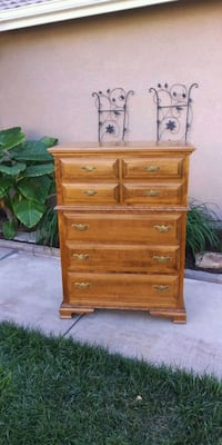 VINTAGE SOLID WOOD 7DR. CHEST  Corona, 92881