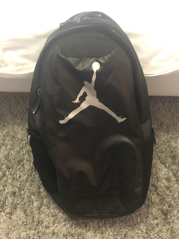 a1dbd1696f4eb9 Used NIKE AIR JORDAN BLACK SILVER RED BACKPACK BASKETBALL BAG for sale in  Syosset - letgo