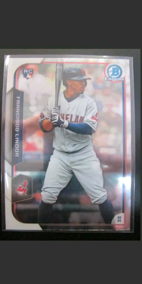 Used 2015 Bowman Chrome Francisco Lindor Rookie Card For Sale In