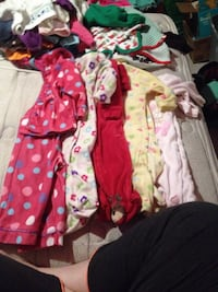 girl's assorted clothes