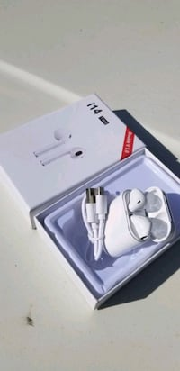 White wireless earbuds new rechargeable bluetooth not AIRPODS
