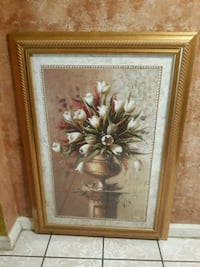 brown wooden framed painting of flowers Houston, 77029