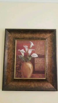 brown wooden framed painting of flowers Gaithersburg, 20878