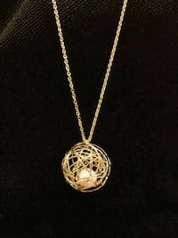 Wire Cage Pearl Necklace (New from Japan)