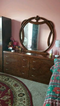 brown wooden dresser with mirror Laurel, 20707