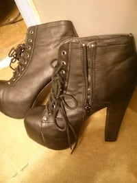 pair of brown leather boots London, N6A 1P1