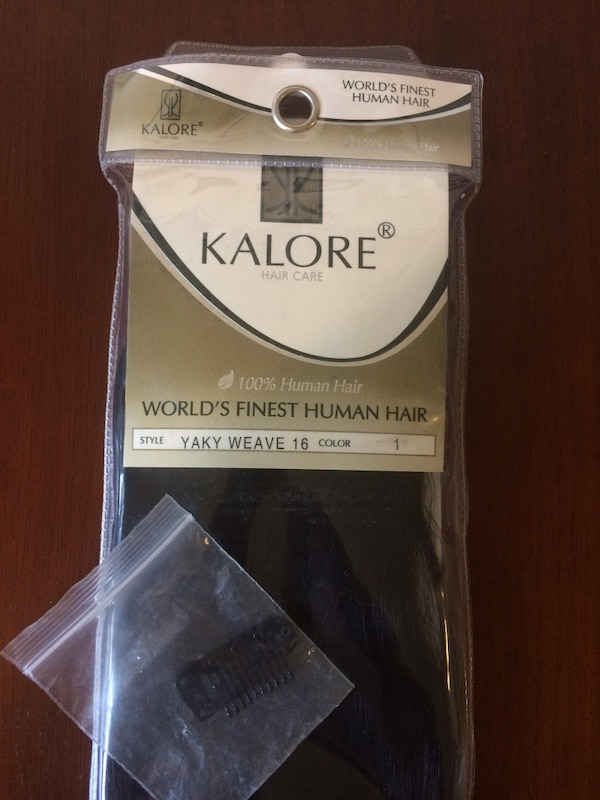 Used Kalore All Black Hair Extensions Clip In Like New For Sale