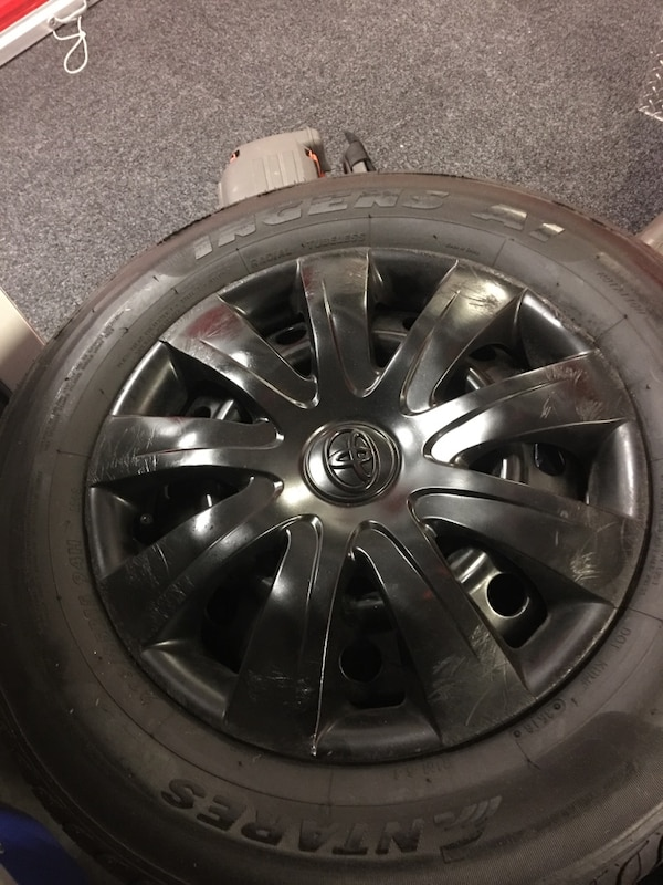 Toyota Camry 4 tires with rims and sensors