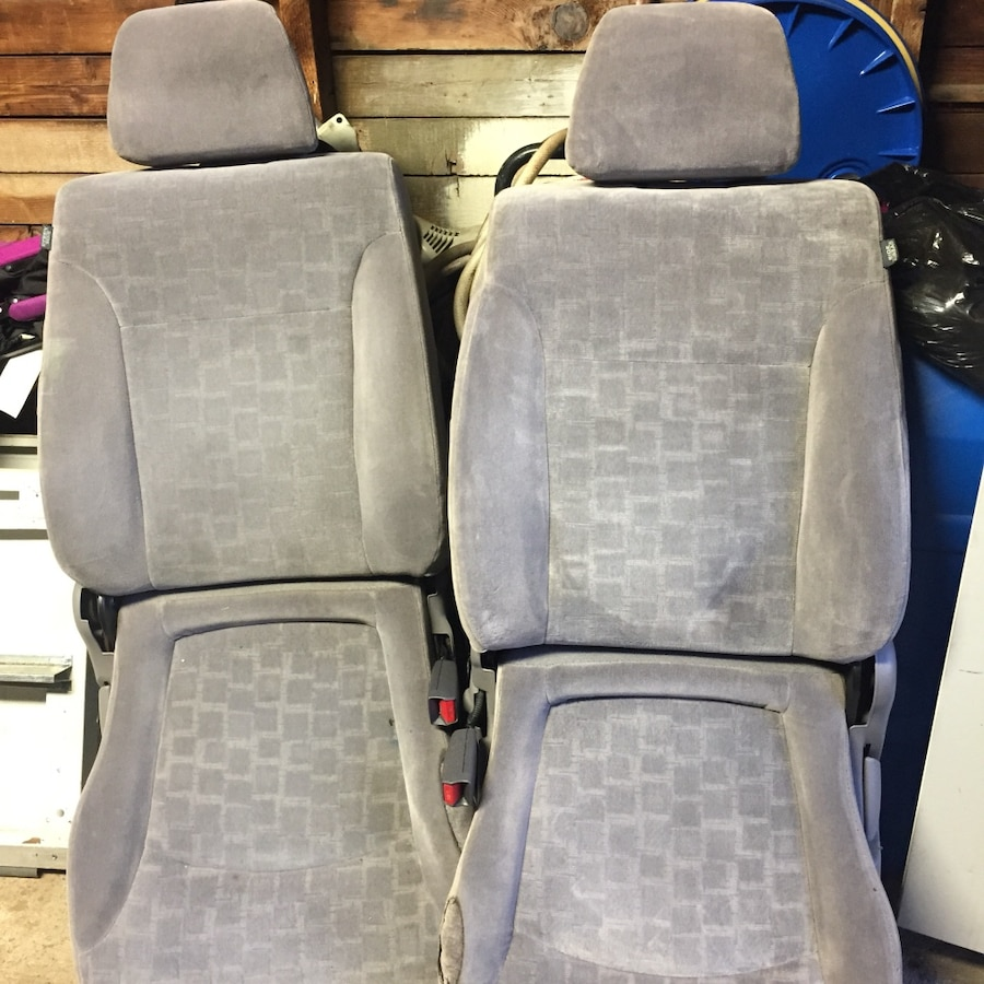 two gray suede car seats in selma letgo. Black Bedroom Furniture Sets. Home Design Ideas