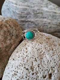 HANDMADE 925 STERLING SILVER NATURAL TURQUOISE RING - SIZE 7.5 Burlington, L7L 7J4