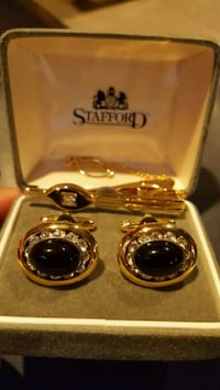 Formal Cuff Links and Tie Clip
