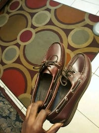pair of brown leather boat shoes West Palm Beach, 33407