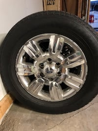 Chrome ford 7-spoke vehicle wheel tire Burr Ridge, 60527