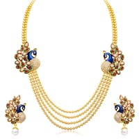 gold and blue beaded necklace Falls Church, 22041