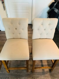 (Set) Threshold Upholstered Stool Chairs
