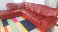red leather sectional sofa with ottoman Edmonton, T6X 1A4