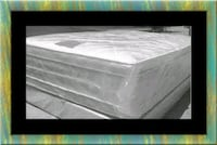 """Full 16"""" double pillow top mattress with boxspring Laurel"""