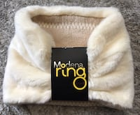 New Modena Ring beige Faux Fur Reversible Scarf Neck Wrap Chicago, 60611