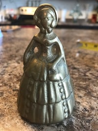 Vintage Dutch Woman Brass Bell from Holland Concord, 28027
