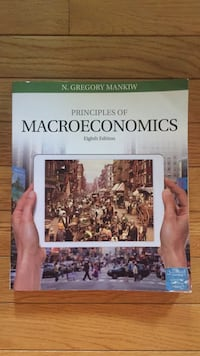 Textbook Principles of Macroeconomics by Mankiw, N. Gregory , 8th Edition Falls Church, 22042