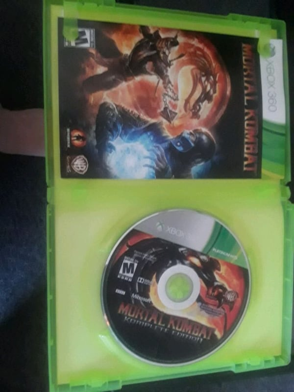 Used Moving Sale 16 Xbox 360 Mortal Kombat Komplete Edition For