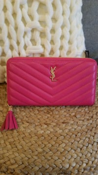 YSL pink long wallet *brand new