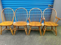 4 OAK DINING ROOM CHAIRS