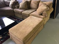 Beautiful Couch, Loveseat, Ottoman. Excellent Condition.  Lewisville, 75067