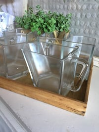 5 glass pitchers , can cut on a shelf for laundry detergent  Sun City, 85351