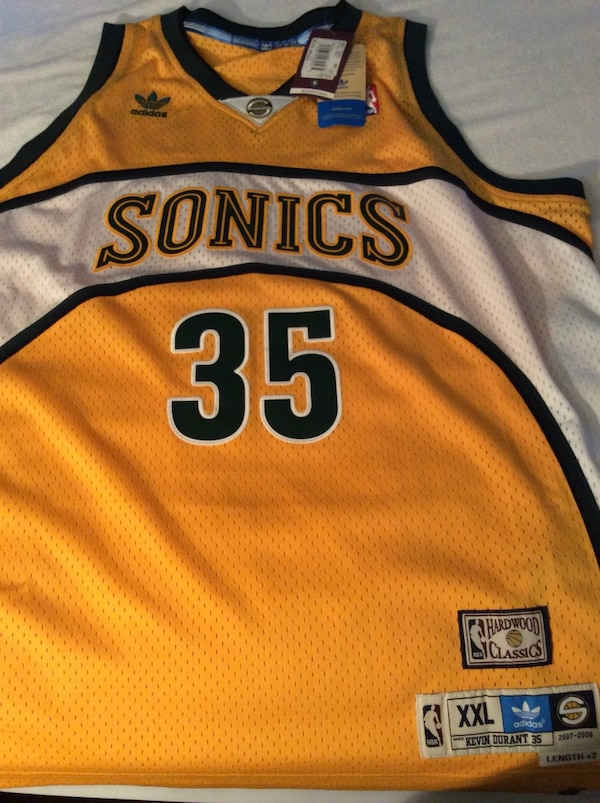 factory price 03f9d afdbb Kevin Durant #35 Seattle SuperSonics Jersey