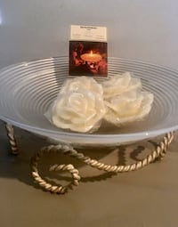 New! Bowring Decor Dish on Metal Stand