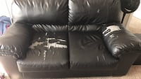 black leather 3-seat sofa Fairfax, 22030