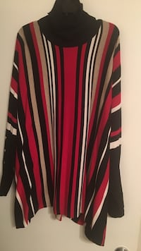 Red/White/Black Stripe Tunic