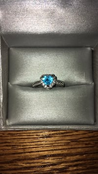Silver Heart Shaped Ring with Blue Gemstone (box not included) Albuquerque, 87112