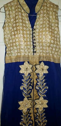 Blue Indian anarkali suit