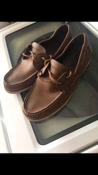pair of brown leather boat Tommy Hilfiger  Lafayette