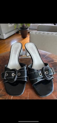 Patent Leather Heeled Sandals