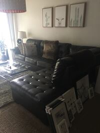 Black/Chocolate Sectional Couch - Right hand Chase  Los Angeles, 90068