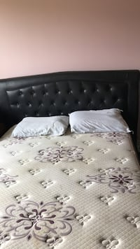 Queen Leather headboard and frame Richmond Hill, L4C