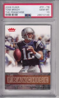 "2006 Fleer Tom Brady ""The Franchise"" The G.O.A.T PSA 10 Gem Mint"