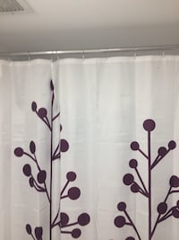 white and brown floral curtain panel Toronto, M4P 1Y2