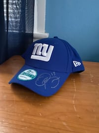 Giants hat signed by Odell Beckham
