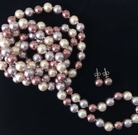 Misaki Babydoll Pearl Necklace and Earring set Calgary, T3E 6L9