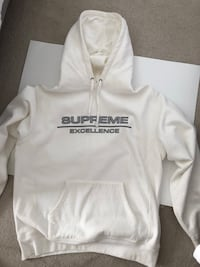 Supreme excellence white hoodie size large. Perfect condition only tried on. $180
